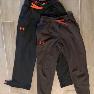 2 pairs of boys Under Armour Athletic Pants YSM